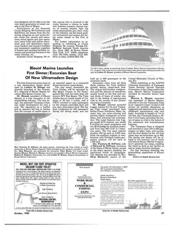 Maritime Reporter Magazine, page 57,  Oct 1989 L-6125As