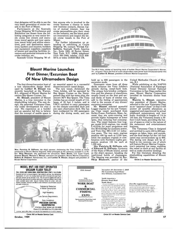 Maritime Reporter Magazine, page 57,  Oct 1989