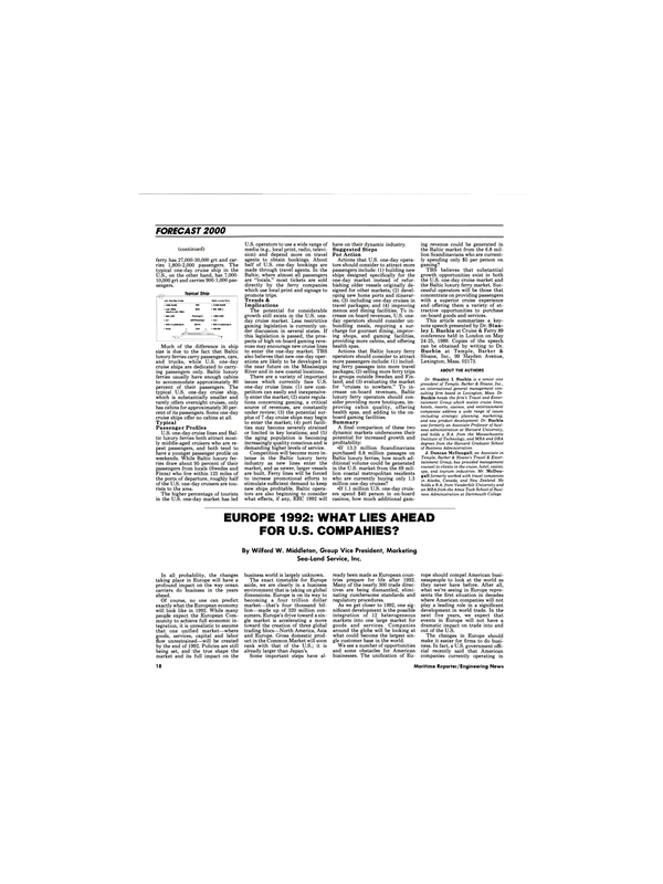 Maritime Reporter Magazine, page 16,  Dec 1989 Stanley I. Buchin