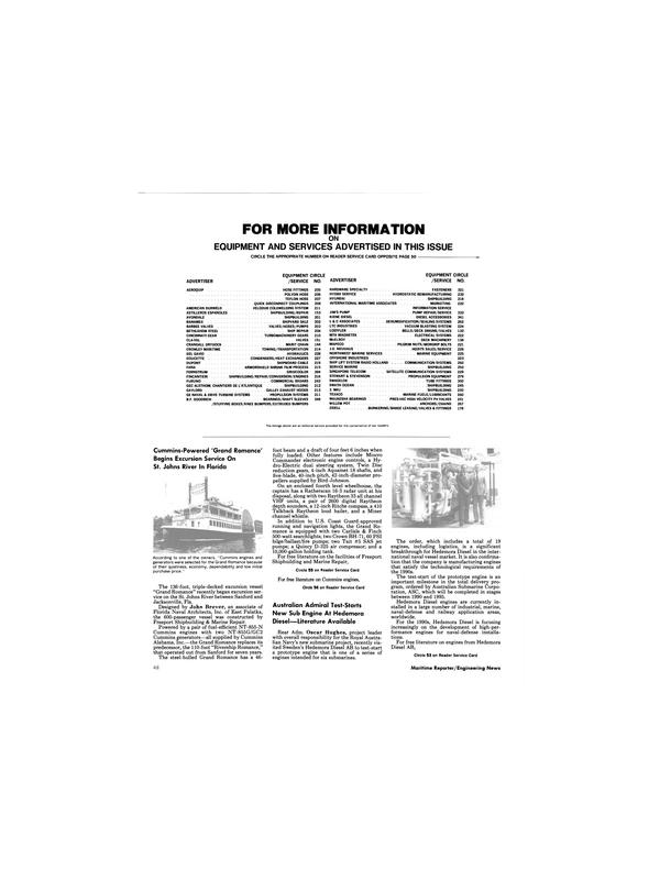 Maritime Reporter Magazine, page 48,  Dec 1989 Rear Adm. Oscar Hughes