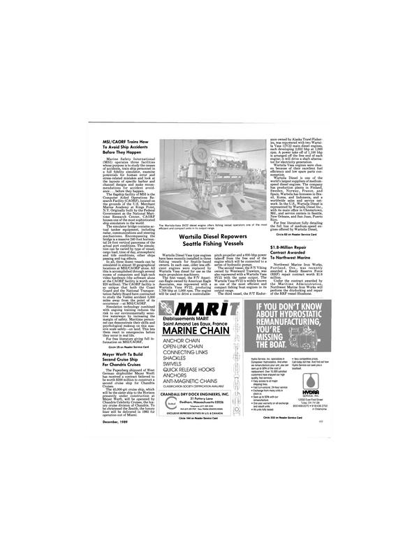 Maritime Reporter Magazine, page 49,  Dec 1989