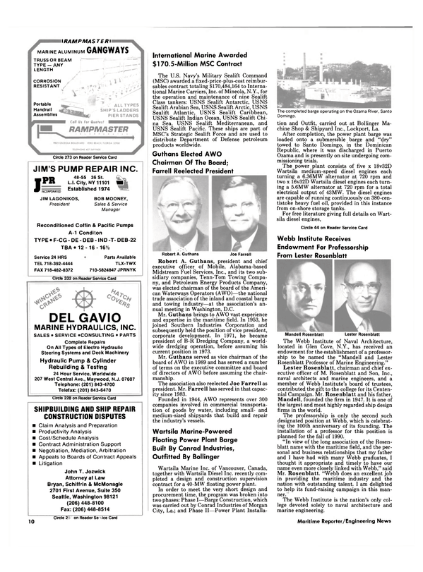 Maritime Reporter Magazine, page 8,  May 1990