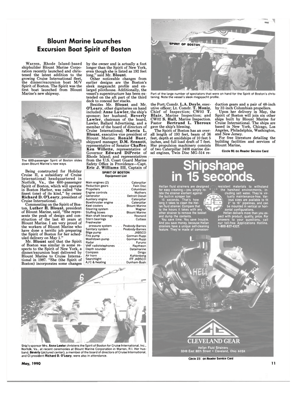 Maritime Reporter Magazine, page 9,  May 1990