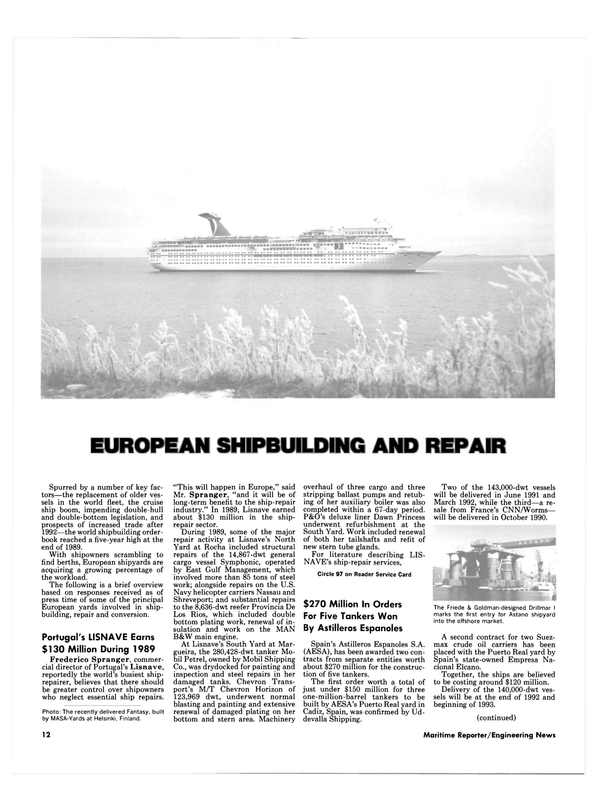 Maritime Reporter Magazine, page 10,  May 1990