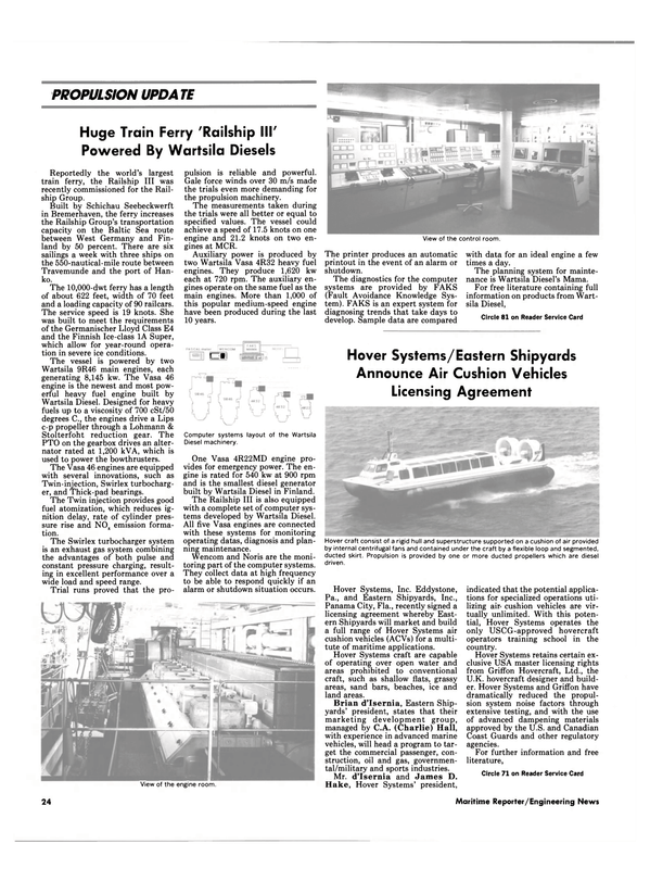 Maritime Reporter Magazine, page 22,  May 1990