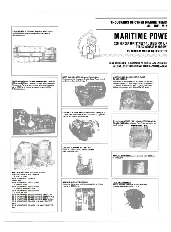 Maritime Reporter Magazine, page 46,  May 1990