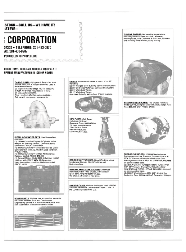 Maritime Reporter Magazine, page 47,  May 1990
