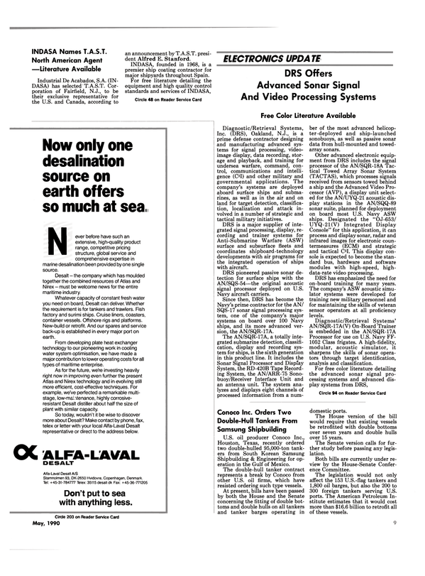 Maritime Reporter Magazine, page 7,  May 1990