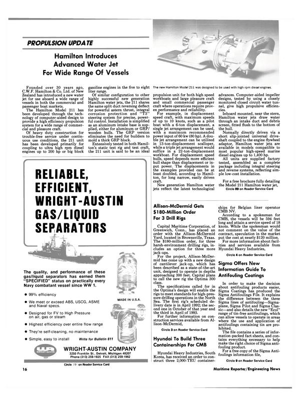 Maritime Reporter Magazine, page 15,  Jul 1990