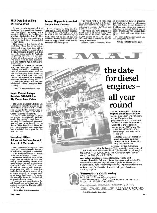 Maritime Reporter Magazine, page 18,  Jul 1990