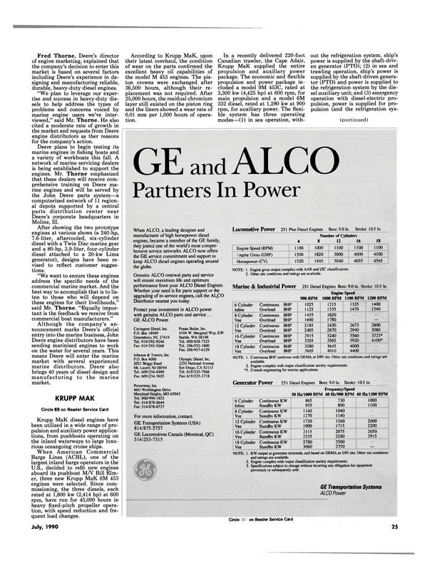 Maritime Reporter Magazine, page 28,  Jul 1990