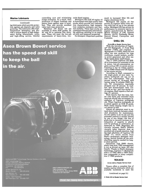 Maritime Reporter Magazine, page 33,  Jul 1990 extended oil life