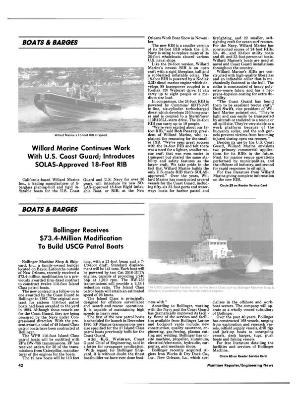 Maritime Reporter Magazine, page 45,  Jul 1990