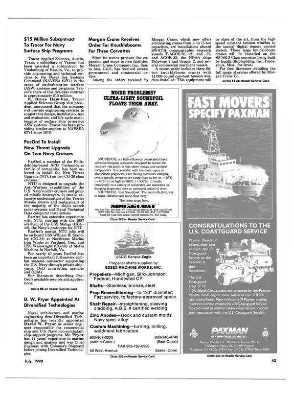 Maritime Reporter Magazine, page 46,  Jul 1990