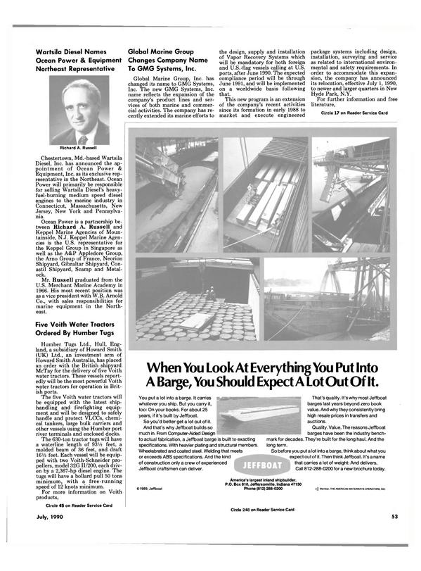 Maritime Reporter Magazine, page 56,  Jul 1990