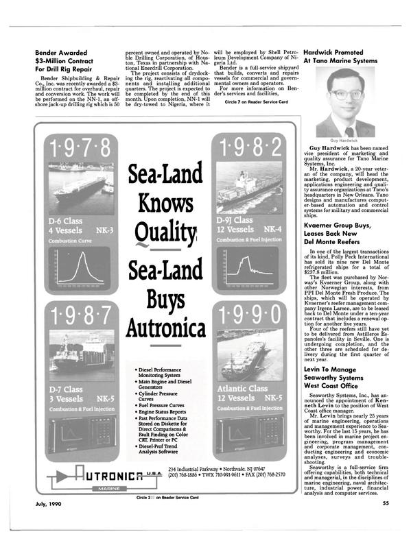 Maritime Reporter Magazine, page 58,  Jul 1990