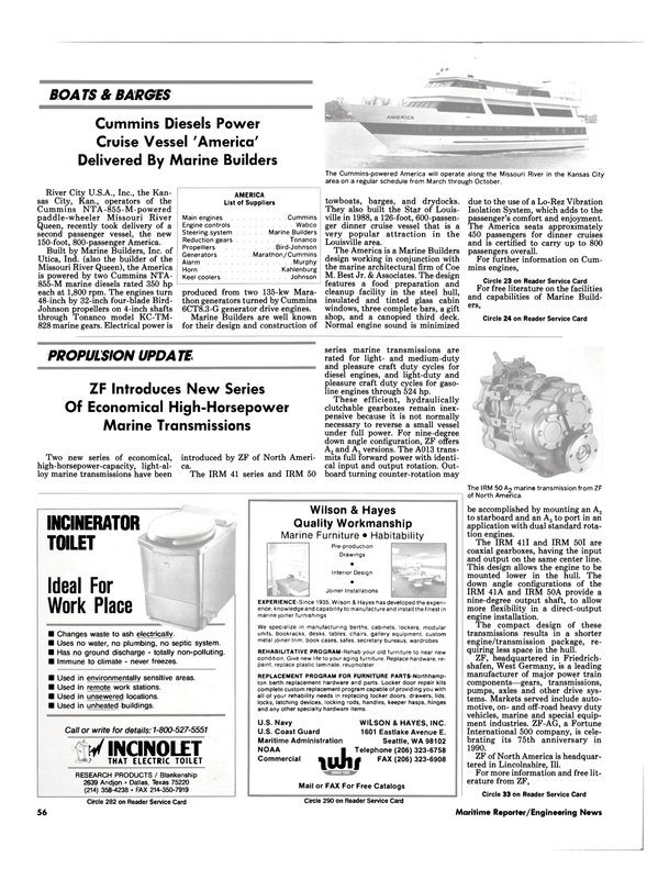 Maritime Reporter Magazine, page 59,  Jul 1990