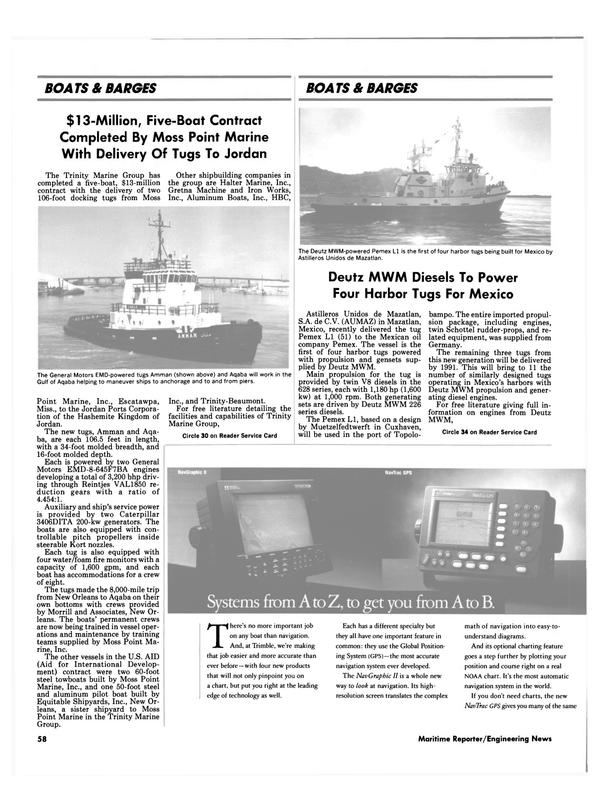 Maritime Reporter Magazine, page 61,  Jul 1990