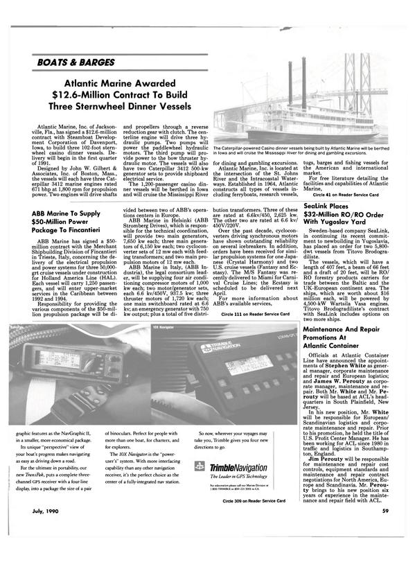 Maritime Reporter Magazine, page 62,  Jul 1990