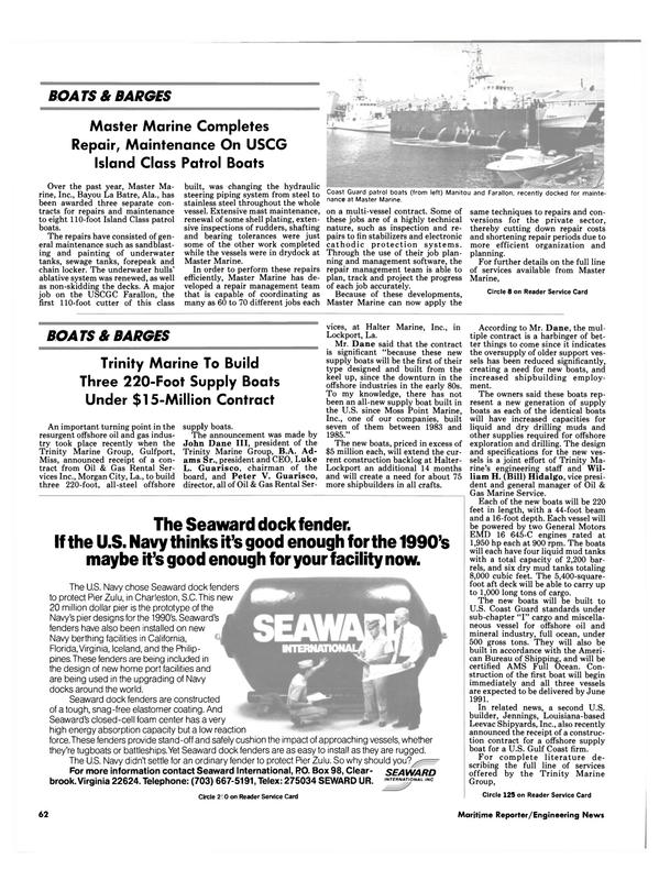 Maritime Reporter Magazine, page 65,  Jul 1990