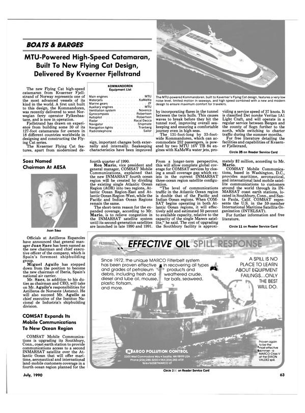 Maritime Reporter Magazine, page 66,  Jul 1990