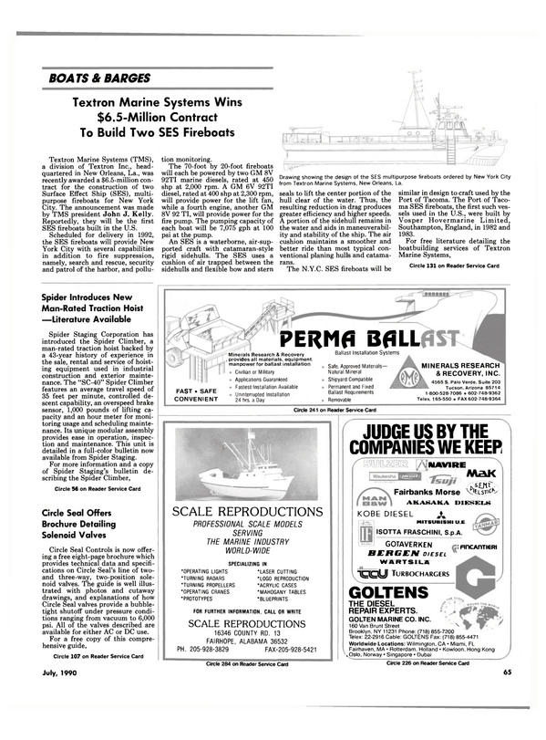 Maritime Reporter Magazine, page 68,  Jul 1990