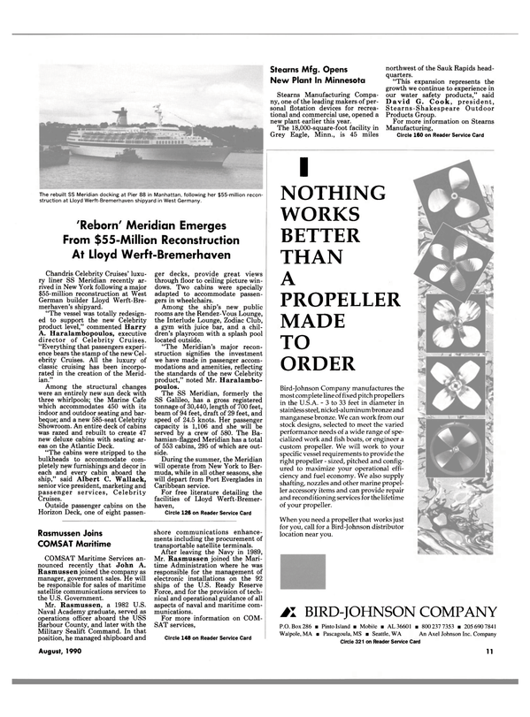 Maritime Reporter Magazine, page 9,  Aug 1990