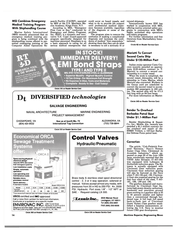 Maritime Reporter Magazine, page 12,  Aug 1990 Alabama