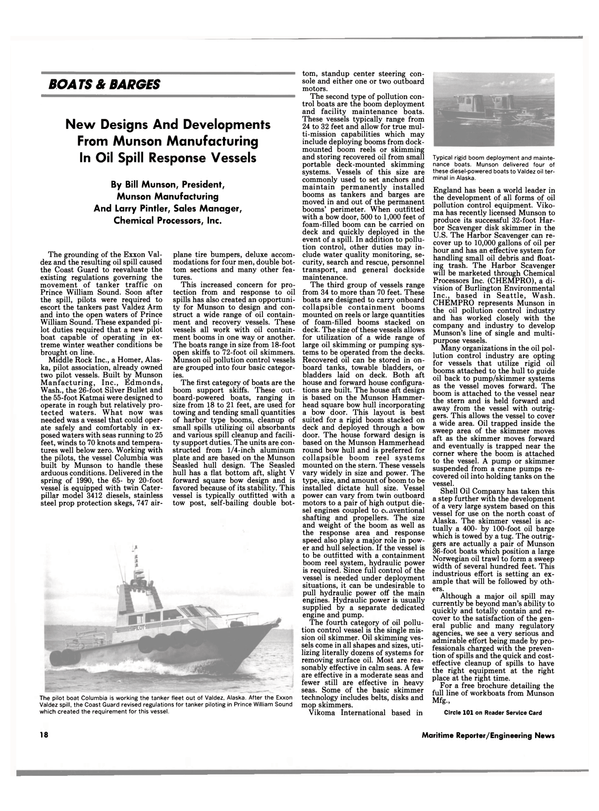 Maritime Reporter Magazine, page 16,  Aug 1990