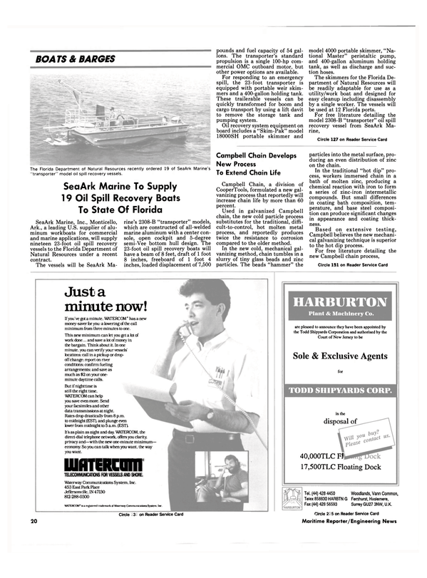 Maritime Reporter Magazine, page 18,  Aug 1990