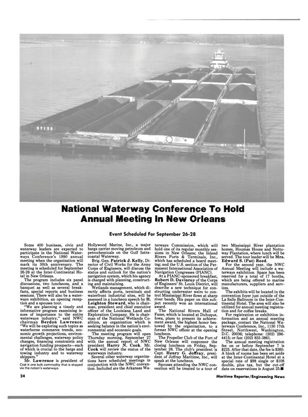 Maritime Reporter Magazine, page 24,  Aug 1990
