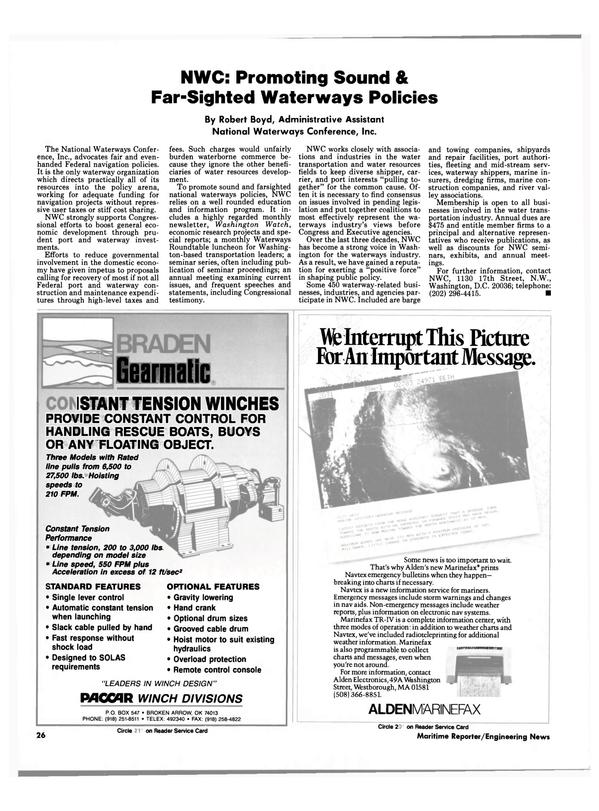 Maritime Reporter Magazine, page 26,  Aug 1990