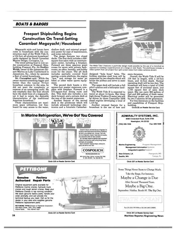 Maritime Reporter Magazine, page 28,  Aug 1990 Florida