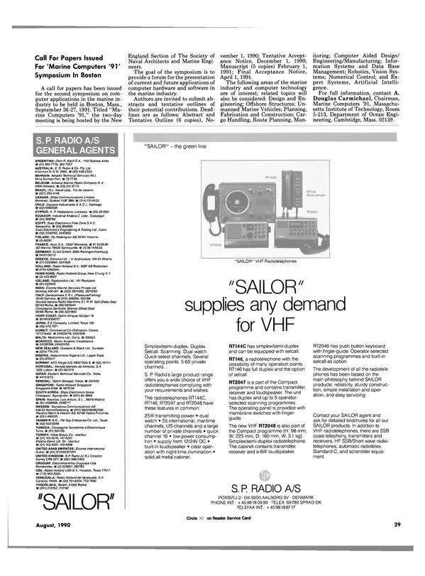 Maritime Reporter Magazine, page 29,  Aug 1990