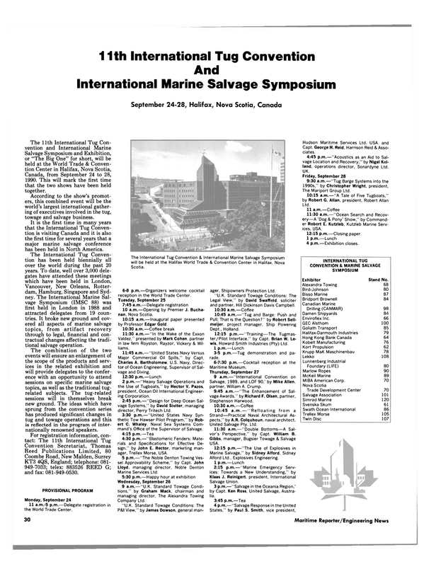Maritime Reporter Magazine, page 30,  Aug 1990 Mike Allen