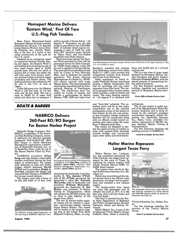 Maritime Reporter Magazine, page 37,  Aug 1990 Connecticut