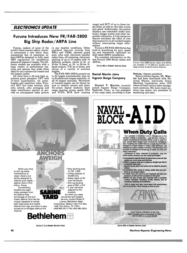 Maritime Reporter Magazine, page 40,  Aug 1990