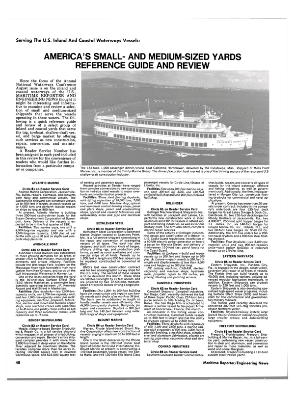 Maritime Reporter Magazine, page 48,  Aug 1990 California