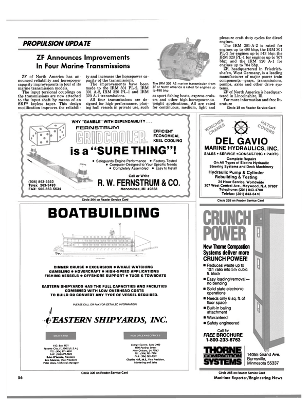 Maritime Reporter Magazine, page 56,  Aug 1990