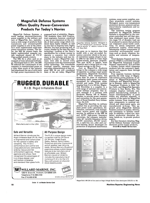 Maritime Reporter Magazine, page 8,  Sep 1990 Wisconsin