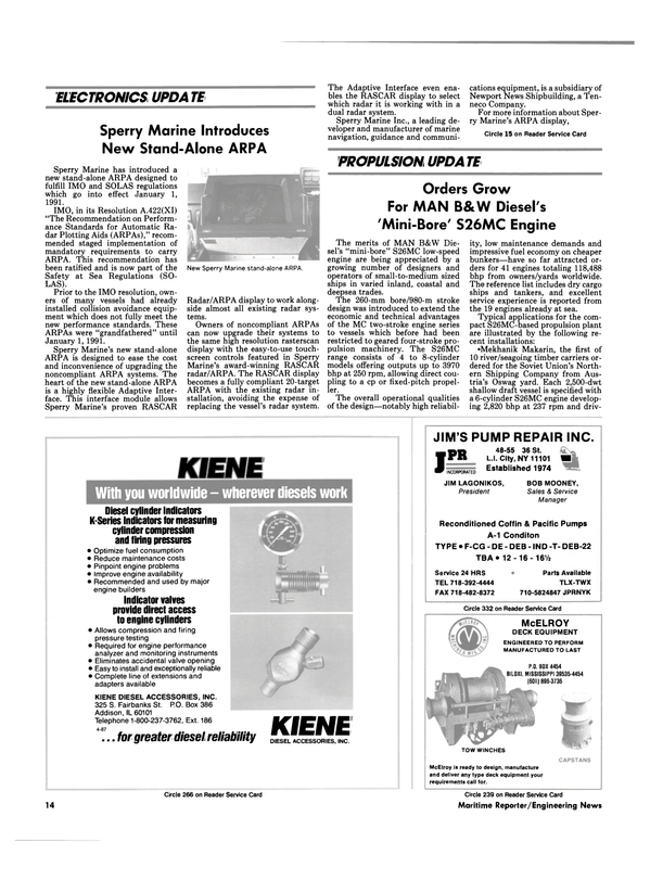 Maritime Reporter Magazine, page 12,  Sep 1990 DEB-22