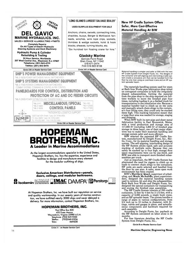 Maritime Reporter Magazine, page 14,  Sep 1990 Glen Cove