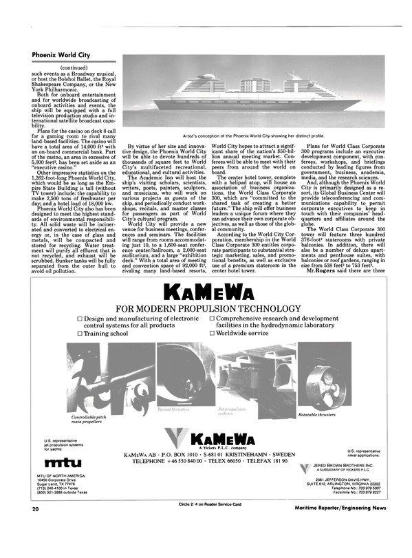 Maritime Reporter Magazine, page 18,  Sep 1990