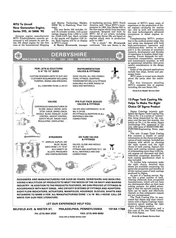 Maritime Reporter Magazine, page 22,  Sep 1990 Pennsylvania