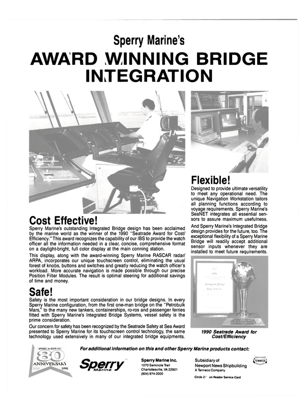 Maritime Reporter Magazine, page 34,  Sep 1990