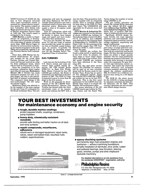 Maritime Reporter Magazine, page 39,  Sep 1990 Pennsylvania