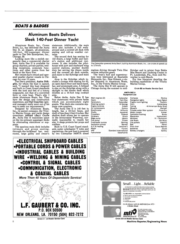 Maritime Reporter Magazine, page 6,  Sep 1990