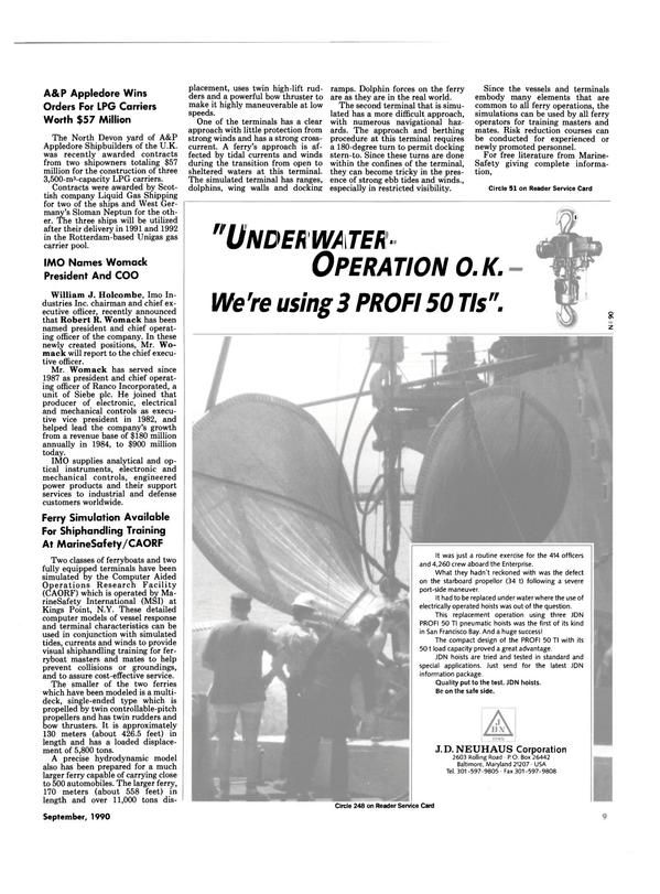 Maritime Reporter Magazine, page 7,  Sep 1990 San Francisco Bay