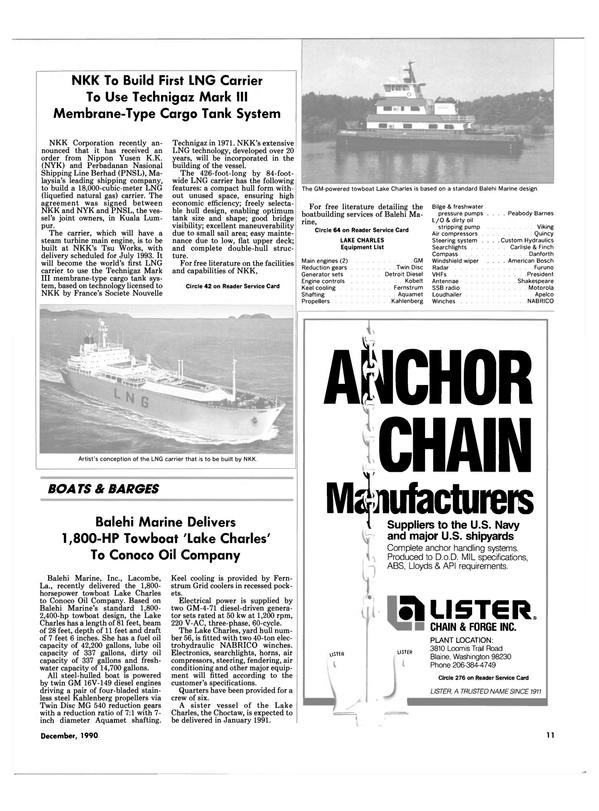 Maritime Reporter Magazine, page 9,  Dec 1990 Washington