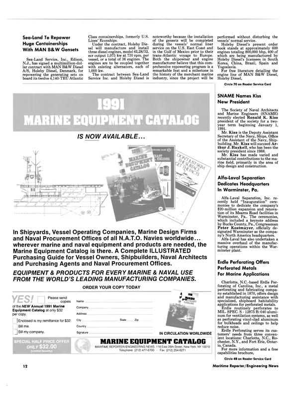 Maritime Reporter Magazine, page 10,  Dec 1990